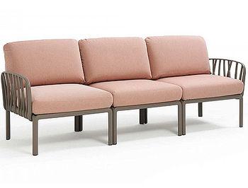 Canapea cu 3 locuri pentru exterior Nardi KOMODO 3 POSTI acrilic fabric (32 combinatii de culori)