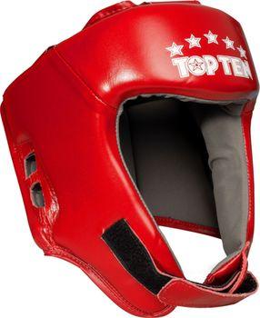 """Защитный кожаный шлем для головы """"AIBA"""" - TOP TEN"""