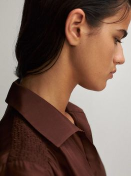 Блуза Massimo Dutti Коричневый 5107/537/717