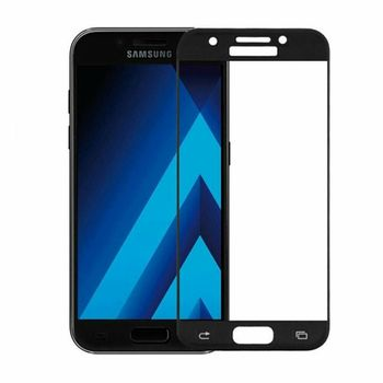 Защитное стекло Samsung A720 BLACK (5D )