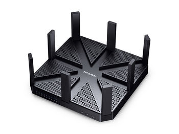 TP-LINK Archer Archer C5400  AC5400 Tri Band Wireless Gigabit Router, MU-MIMO, 2167Mbps + 2167Mbps at 5Ghz + 1000Mbps at 2.4Ghz, 802.11ac/a/b/g/n, 1 Gigabit WAN + 4 Gigabit LAN, 1xUSB 3.0+1xUSB2.0, 8 detachable antennas
