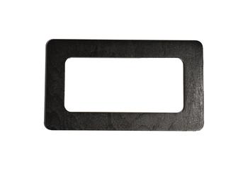 Mâner din lemn, negru / 17x10 cm