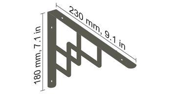 купить Кронштейн настенный 230x180 мм, Бронза в Кишинёве