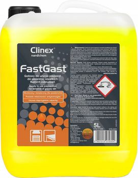Clinex Fast Gast 5л для жировых загрязнений