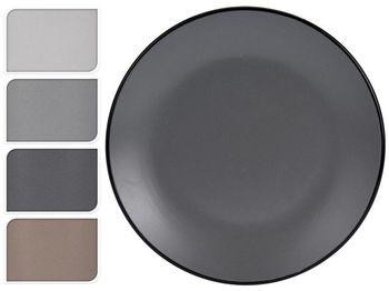 Тарелка десертная 20.3cm Black Rim, керамика