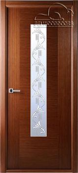 купить Дверь КЛАССИКА ЛЮКС орех остекленная в Кишинёве