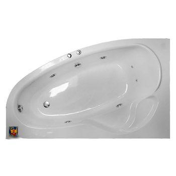 Fibrocom Ванна акриловая с гидромассажем Hermes 170х105см л