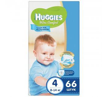 купить Подгузники Huggies Ultra Comfort Mega 4 Boy (8-14 kg) 66 шт в Кишинёве