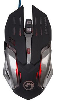 "MARVO ""M314"", Gaming Mouse, 1200/1600/2400/3200dpi adjustable, Optical sensor, 6 buttons, 4 colors lights cycling in breathing mode, USB, Black"