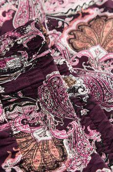 Юбка ORSAY Фиолетовый с принтом 724170