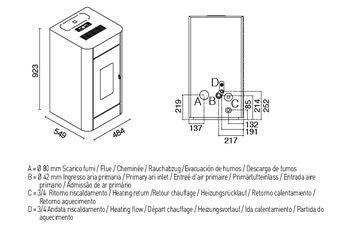 Печь пеллетная с водяным контуром - FRIDA 13 кВт