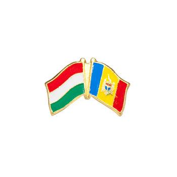 купить Значок - Флаг Венгрия & Молдова в Кишинёве