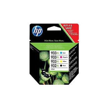 HP 932XL Black/933XL Cyan Magenta Yellow 4-pack Original Ink Cartridges