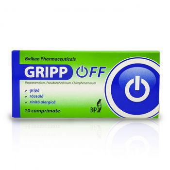 cumpără Gripp OFF 251mg/61,2mg/2,54mg comp. N10 în Chișinău