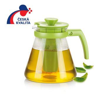 Ceainic din sticla cu infuzor TEO 1.25 l, orange,rosu,verde