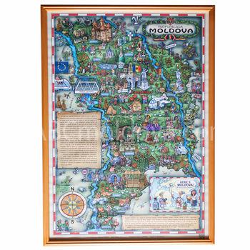 купить Плакат A2 в деревянной раме - Here's MOLDOVA! в Кишинёве