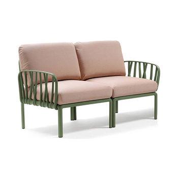 Диван с подушками Nardi KOMODO 2 POSTI AGAVE-rosa quarzo (Диван с подушками для сада и терас)