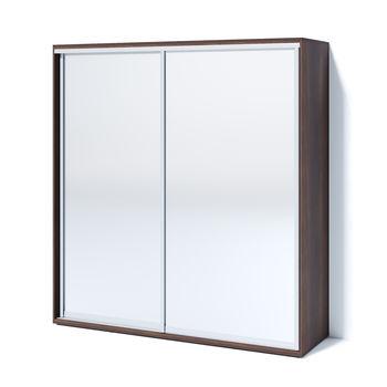 Шкаф-купе 2000 2 зеркала, Орех тёмный