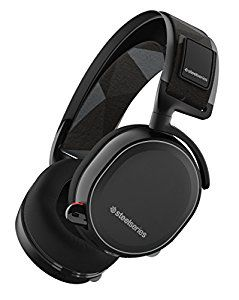 STEELSERIES Arctis 7 / Lag-Free Wireless Gaming Headset with retractable Best Mic in Gaming, ClearCast, DTS Headphone:X 7.1 Surround Sound, 40mm neodymium drivers, Compatibility (PC/Mac/PS/VR/Mobile), Wireless USB+3.5mm jack, Black