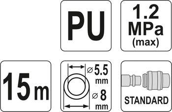 купить Cпиральный пневматический шланг 5.5*8 15м в Кишинёве