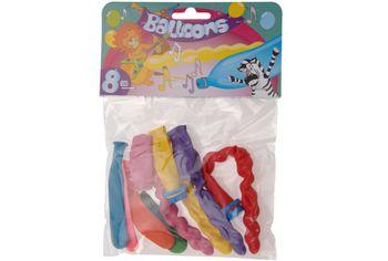Набор шаров воздушных 8шт, разные цвета со свистком