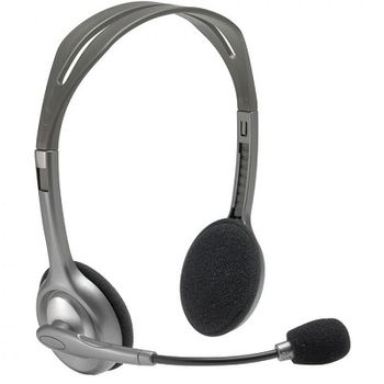 Logitech Stereo Headset H110, Headphone: 20 - 20,000 Hz, Mic: 100 - 16,000 Hz, 1.8m