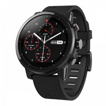 """Xiaomi """"Amazfit Pace 2 (Stratos)"""" Black, 1.34"""" Touch Display, 512MB/4GB, GPS, Time, Notification for incoming calls, Heart Rate, Steps, Alarm, Distance Display, Average Daily Steps, Weather, Notifications, 5ATM, Up to 5 days, BT4.1, 53.7g"""