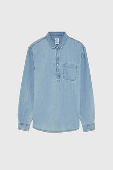 Рубашка ZARA Джинса zara 7545/321/406
