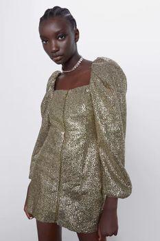 Платье ZARA Золотой 8762/847/303