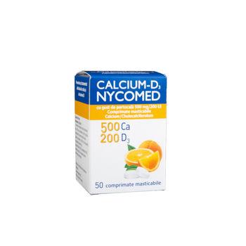 cumpără Calciu D3 cu gust de portocala comp. mast. N50 (Nycomed) în Chișinău