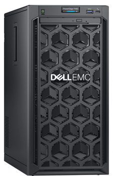"Dell PowerEdge T140 Tower (Intel Xeon E-2146G, up to 4х3,5"" Cabled HDD, 16GB DDR4 UDIMM, 1х2TB 7.2K NLSAS 12Gbps 3.5in Cabled, PERC H330 RAID, DVD, iDRAC9 Basic, TPM 2.0, Single cabled 365W PSU)"