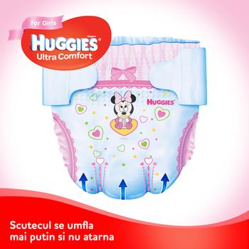 купить Подгузники для девочек Huggies Ultra Comf 4 (8-14 kg), 66 шт. в Кишинёве