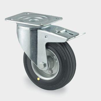 купить Колесо поворотное с тормозом Ø 080 - 03830080 в Кишинёве
