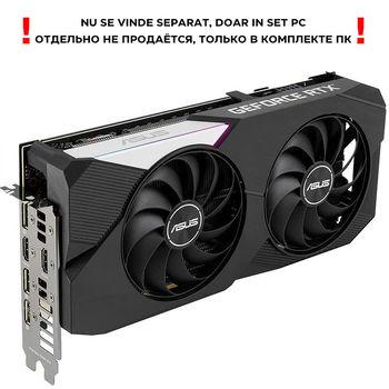Видеокарта ASUS DUAL-RTX3060TI-O8G-V2, GeForce RTX3060TI 8GB GDDR6, 256-bit, GPU/Mem speed 1740/14Gbps, PCI-Express 4.0, 2xHDMI/3xDisplay Port (placa video/видеокарта)