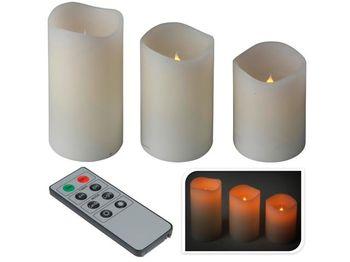 Набор свечей LED 3шт, пульт