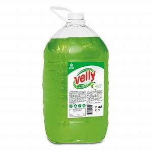Средство для мытья посуды Velly 5000гр light зеленое яблоко