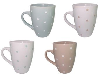Чашка керамическая с точками 300ml
