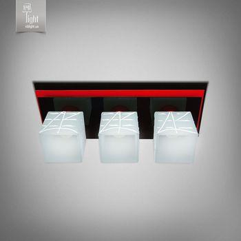 купить N&B Light Люстра Пиастра 10133-1 черный глянец/красный глянец в Кишинёве