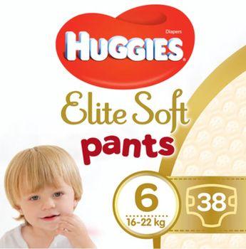 купить Трусики Huggies Elite Soft Pants  Giga  6  (15-25 kg), 38 в Кишинёве
