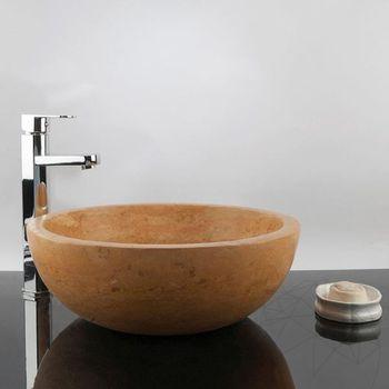cumpără Chiuveta baie travertin Yellow RS-5, 42 x 15 cm în Chișinău
