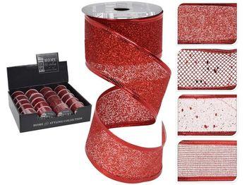 Лента декоративная 3.8сmX2.7m, красная