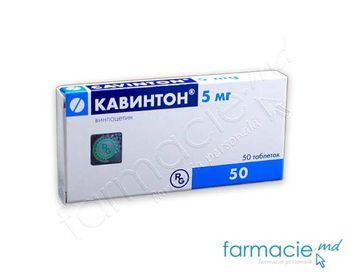 купить Кавинтон, табл, 5 mg, N25x2 в Кишинёве
