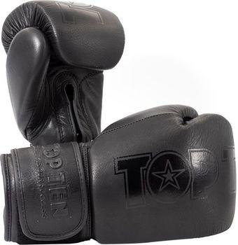 "Боксерские перчатки ""Black'n'Black""12oz - Top Ten"