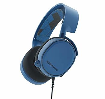 STEELSERIES Arctis 3 / Gaming Headset with retractable Best Mic in Gaming, ClearCast,  7.1 Surround Sound, 40mm neodymium drivers, Compatibility (PC/Mac/PS/Xbox/VR/Mobile), Cable lenght 3.0m, 3.5mm jack, Boreal Blue