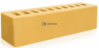 25x6,5x6,5 см Жёлтый Клинкерный Кирпич Брусок