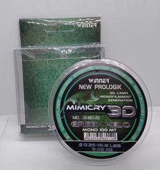 Леска 3D Winner Mimicry 100м 0.25мм