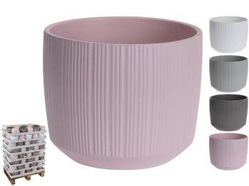 "Вазон для цветов керамический ""Pattern"" D14.5cm, H12cm, 4 ц"