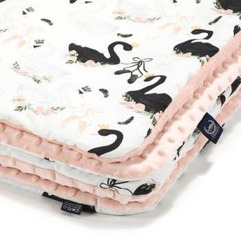 купить Одеялко LaMillou Moonlight Swan – Powder Pink (100x80 cm) в Кишинёве