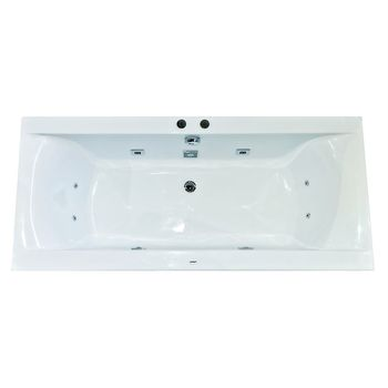 Fibrocom Ванна акриловая с гидромассажем Simplis 180x80см