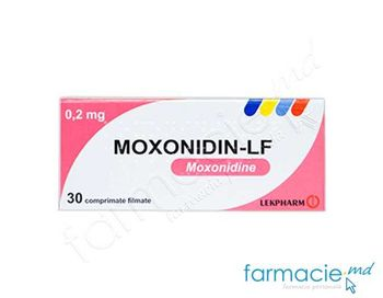 купить Moxonidin-LF comp. film. 0,2 mg N10x3 в Кишинёве